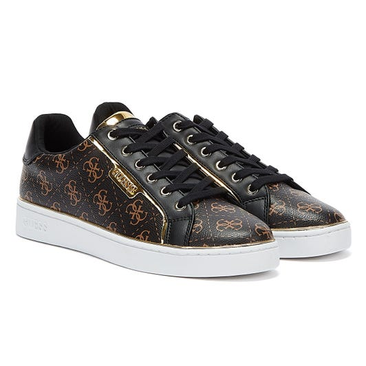 GUESS Banq Womens Brown / Black Trainers