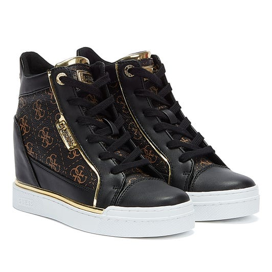 GUESS Fabia Womens Brown / Black Trainers