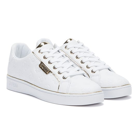 GUESS Banq Womens White Trainers