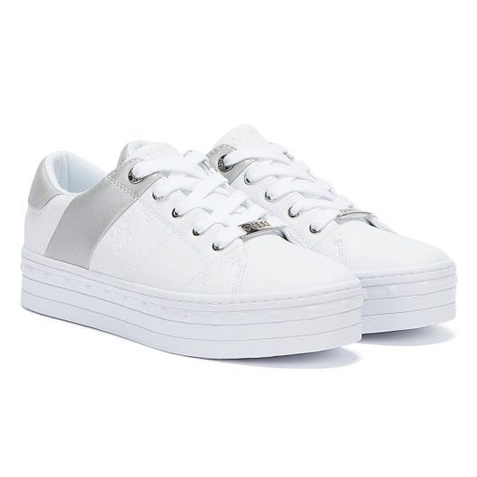 GUESS Bustin Womens White Trainers