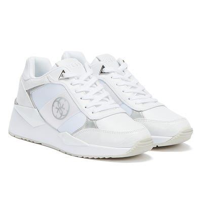GUESS Tesha Womens White / Silver Trainers