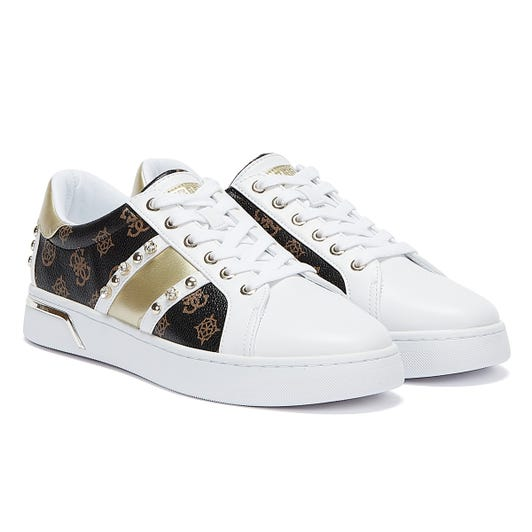 GUESS Ricena Womens White / Brown Trainers