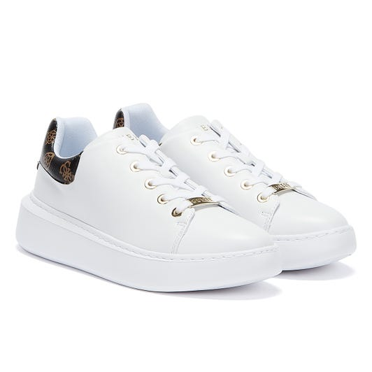 GUESS Bradly 2 Womens White / Brown Trainers