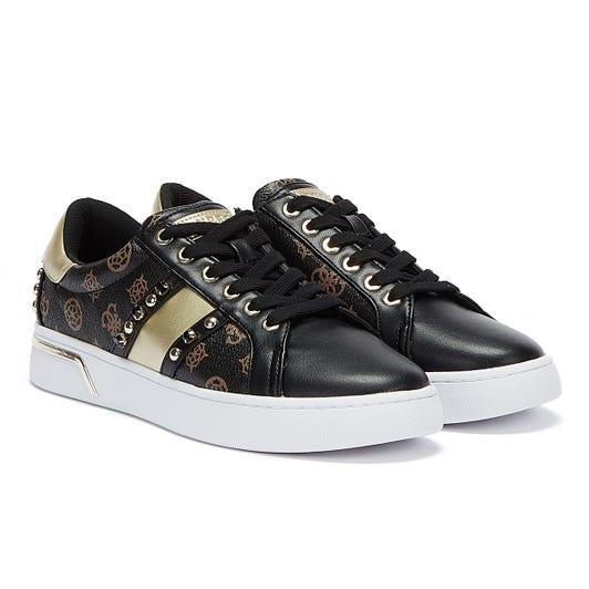GUESS Ricena Womens Black / Brown Trainers