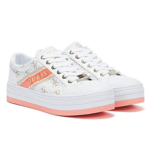 GUESS Barona Womens White / Pink Trainers
