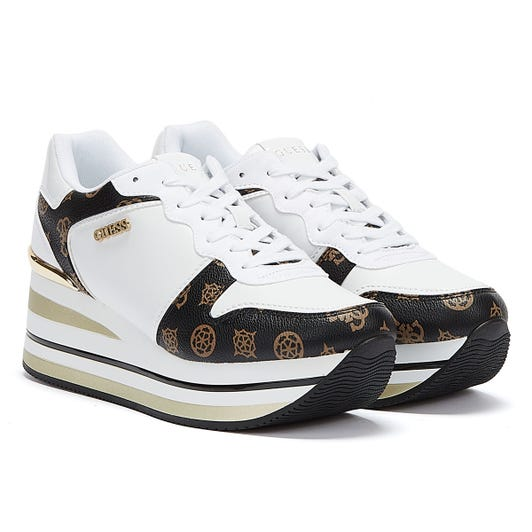 GUESS Hektor Womens Brown White Trainers