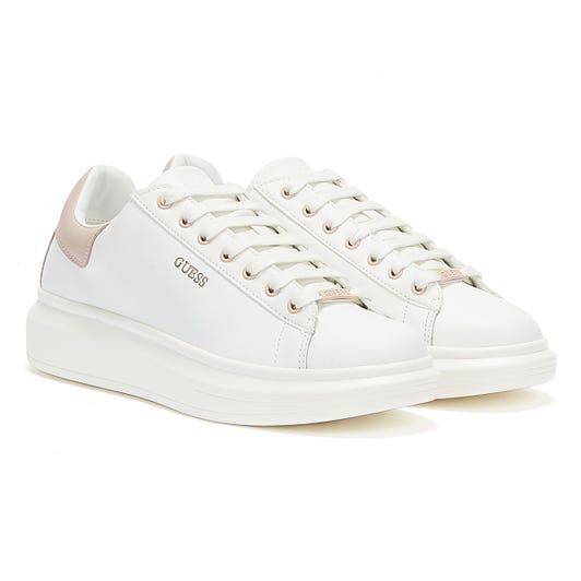 GUESS Salerno Womens White Pink Trainers