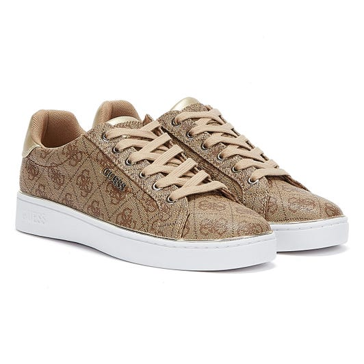 GUESS Beckie Womens Beige / Brown Trainers