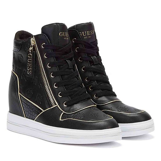 GUESS Nangy Womens Black Trainers
