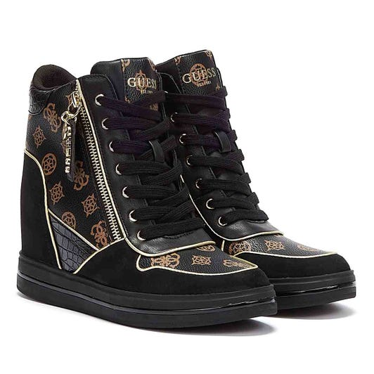 GUESS Nangy Womens Black Brown Trainers