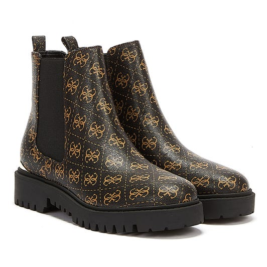 GUESS Olet Womens Brown / Ochra Ankle Boots