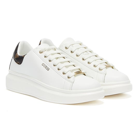 GUESS Salerno Womens White / Ochre Trainers