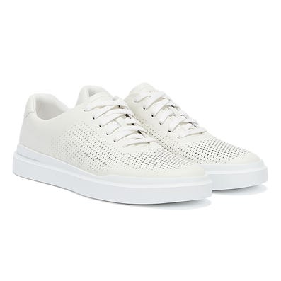 Cole Haan GrandPro Raily Laser Cut Mens White / White Trainers