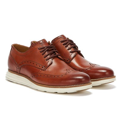 Cole Haan OriginalGrand Shortwing Oxford Mens Brown / White Brogues