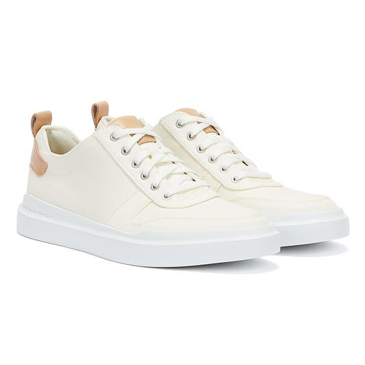 Cole Haan GrandPrø Rally Canvas Court Mens Ivory / White Trainers