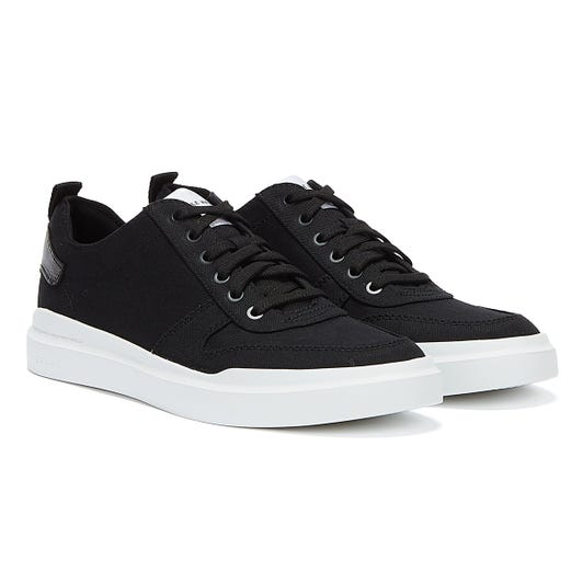 Cole Haan GrandPrø Rally Canvas Court Mens Black / White Trainers