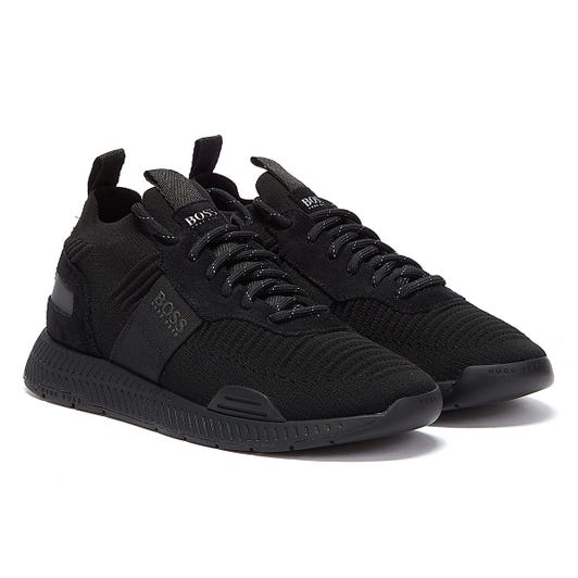 BOSS Titanium Runn Mens Black Trainers