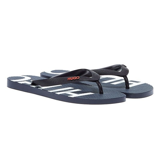 HUGO On Fire Mens Navy Flip Flops