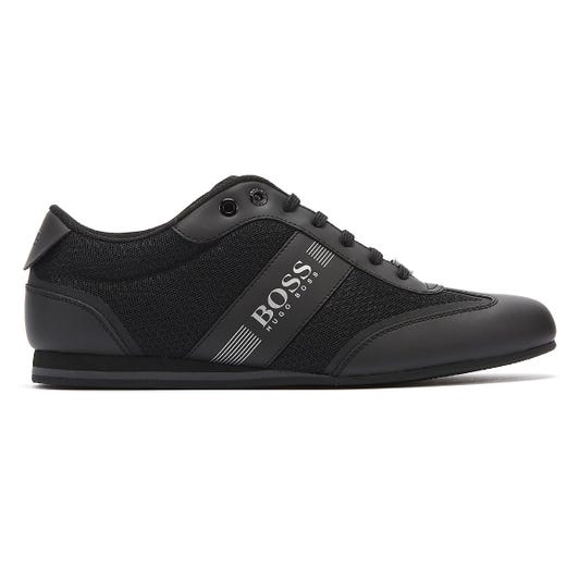 Hugo Boss Lighter Mix Low Mens Black Trainers