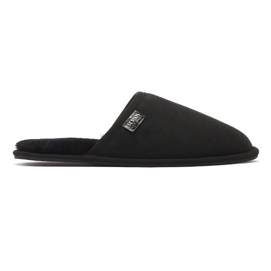 Hugo Boss Home Mens Black Slippers
