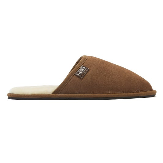 Hugo Boss Home Mens Brown Slippers