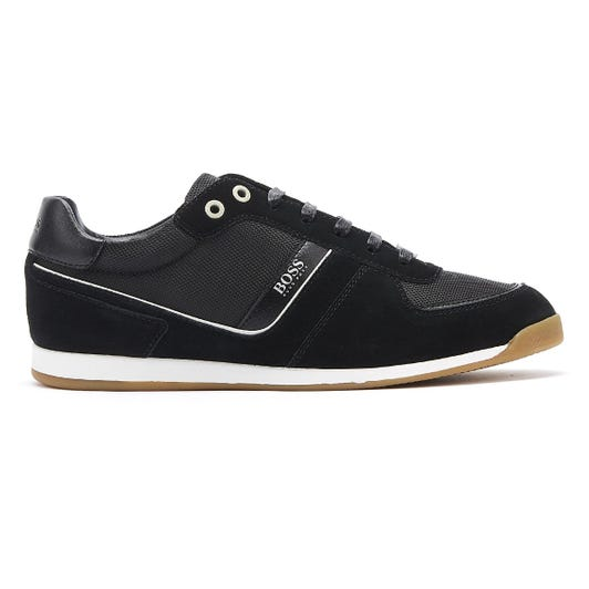 Hugo Boss Glaze Mix Low Mens Black / Gum Trainers