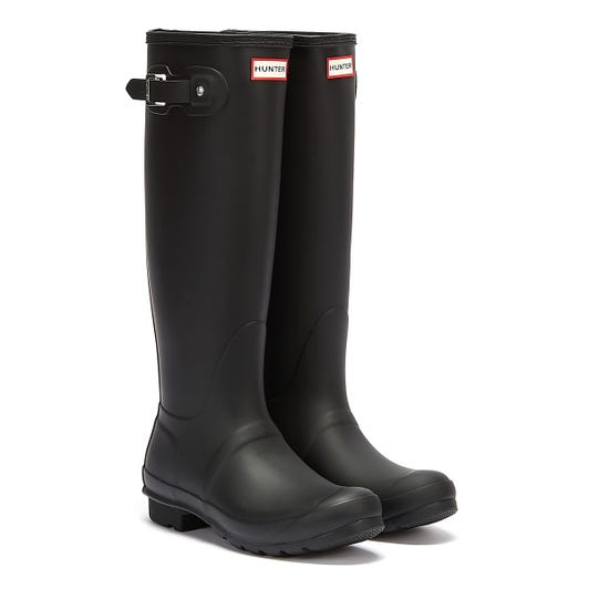Hunter Original Womens Tall Black Rubber Wellington Boots