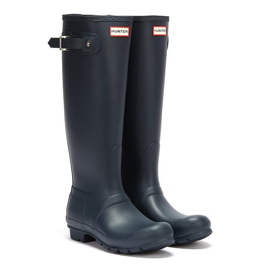 Hunter Original Womens Tall Navy Rubber Wellington Boots