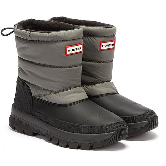 Hunter Original Insulated Snowboot Short Womens Grey Boots