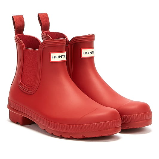Hunter Original Chelsea Womens Military Red Boots