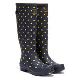 Joules Tall Gusset Print Lady Bird Womens Navy Wellies