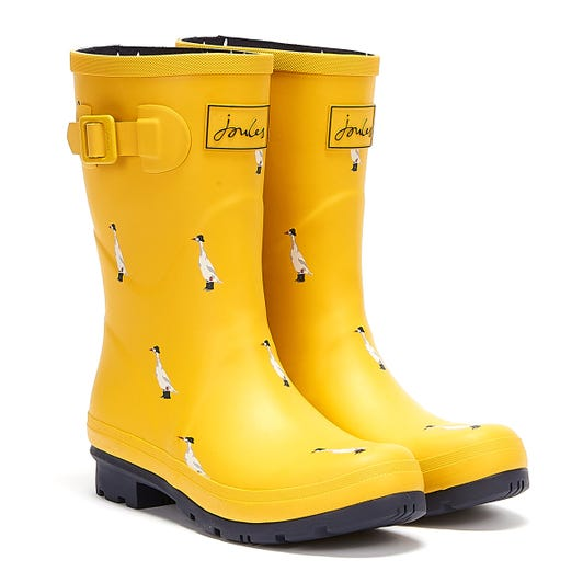 Joules Molly Mid Height Duck Womens Yellow Wellies