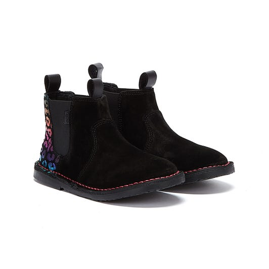 Kickers Adlar Chelz Leopard Infant Black Boots