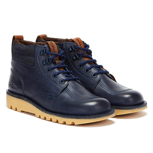 Kickers Kick Hi Winter Oily Mens Navy Boots