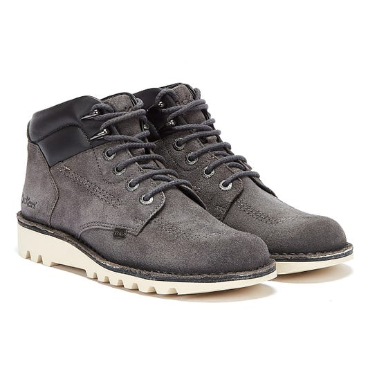 Kickers Kick Rover Suede Mens Grey Boots