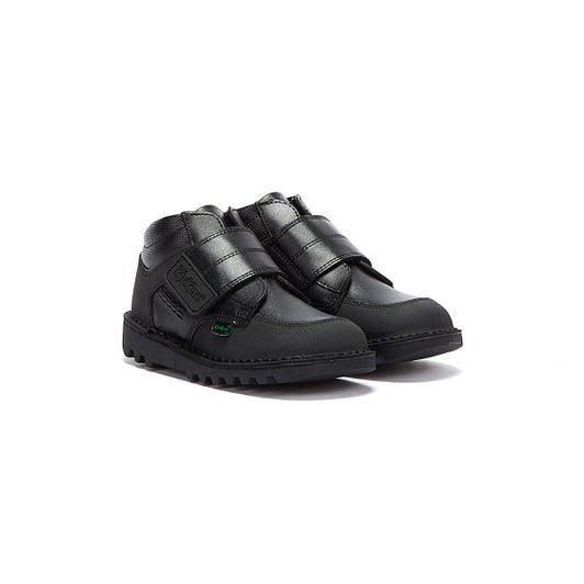 Kickers Mid Scuff Toddler Black Boots