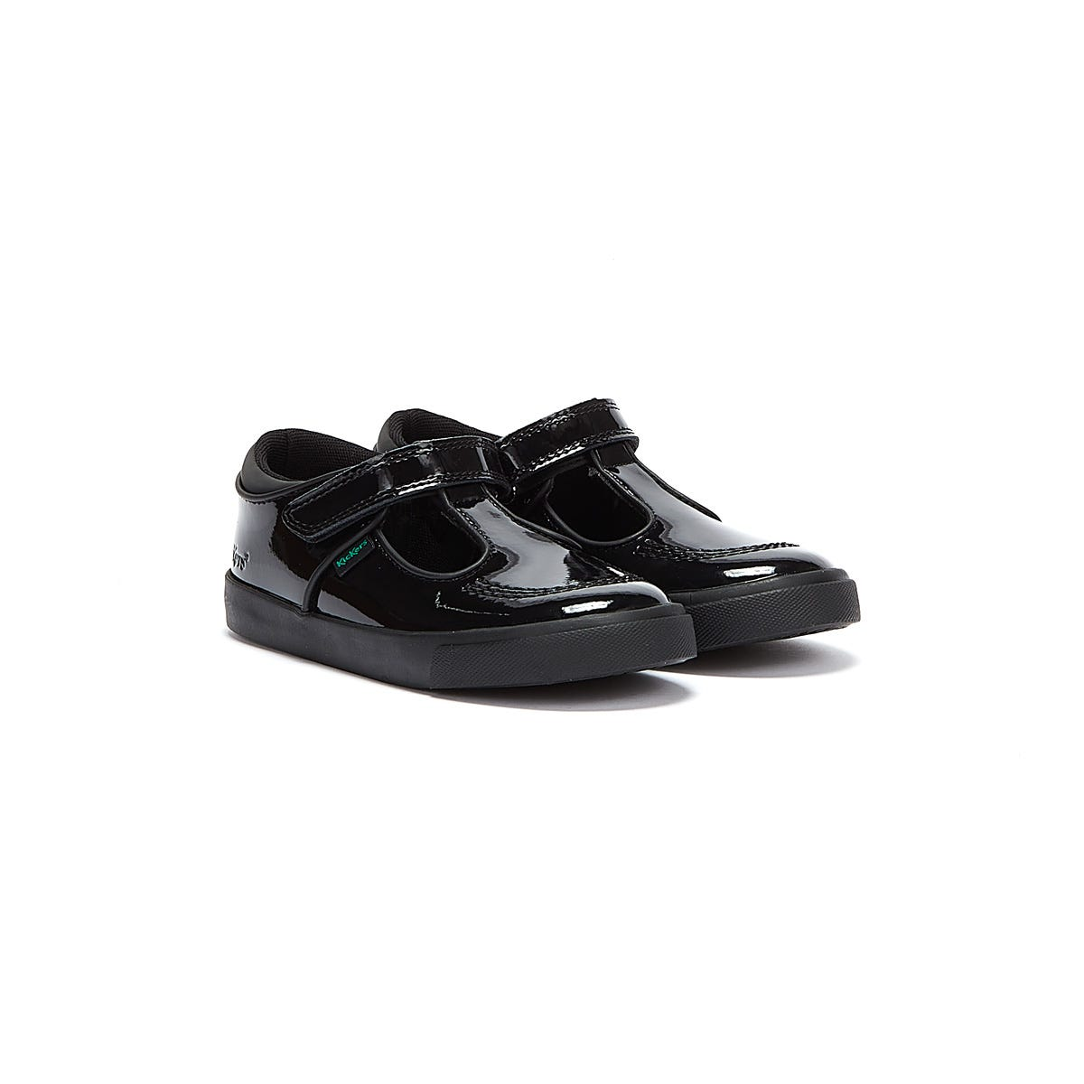 Trainers & Running Shoes Kickers Infant Black Tovni T Bar Patent Leather Shoes