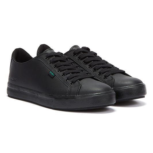 Kickers Black Leather Tovni Lacer Trainers