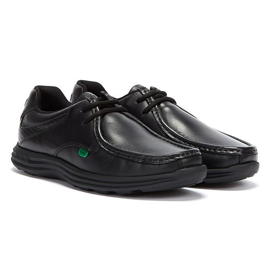 Kickers Reasan Lace Mens Black Leather Shoes