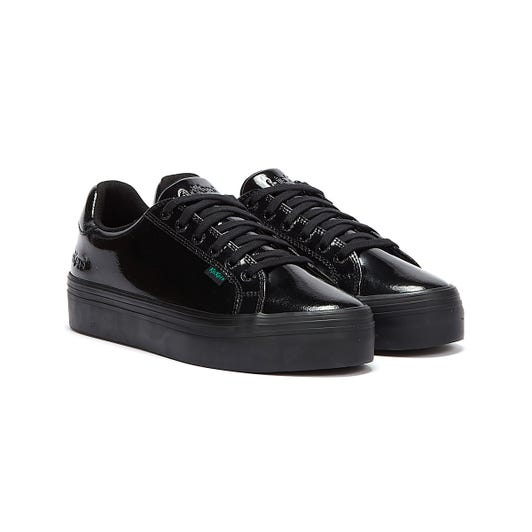 Kickers Tovni Stack Youth Black Patent Shoes