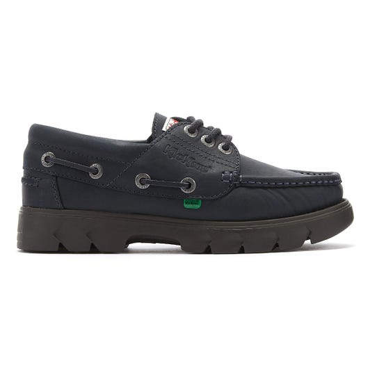 Kickers Lennon Mens Navy Leather Boat Shoes
