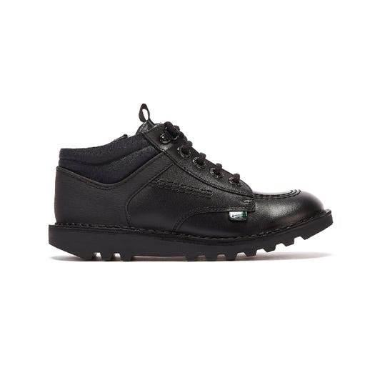 Kickers Kick Hi Flex Junior Black Shoes