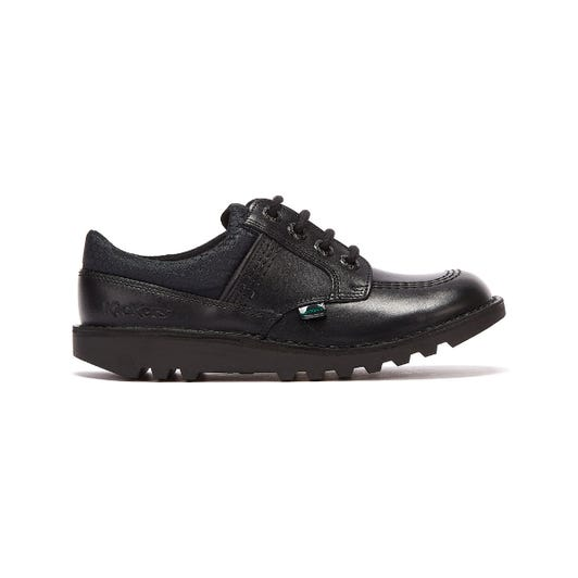 Kickers Kick Lo Flex Junior Black Shoes