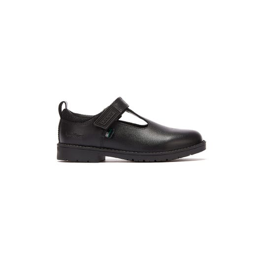 Kickers Lachly T Bar Infants Black Shoes