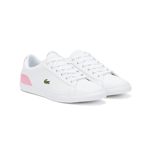 Lacoste Lerond 120 1 Junior White / Pink Trainers
