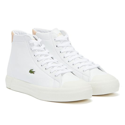 Lacoste Gripshot Mid 120 5  Womens White / Pink Trainers