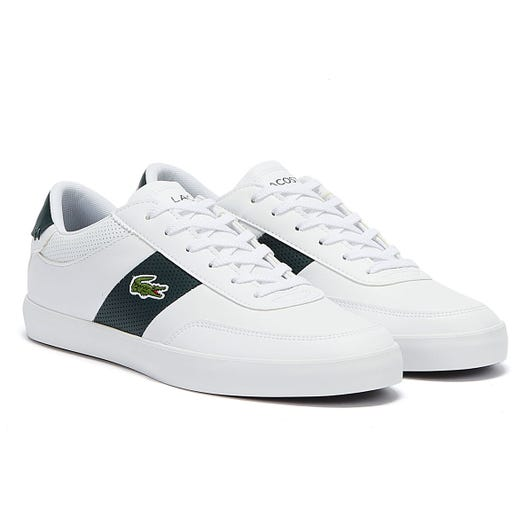 Lacoste Court Master 120 1 Mens White / Dark Green Trainers
