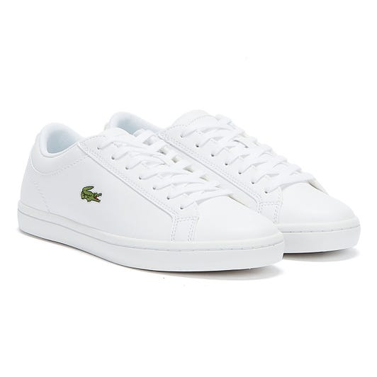 Lacoste Womens White Straightset BL1 SPW Trainers