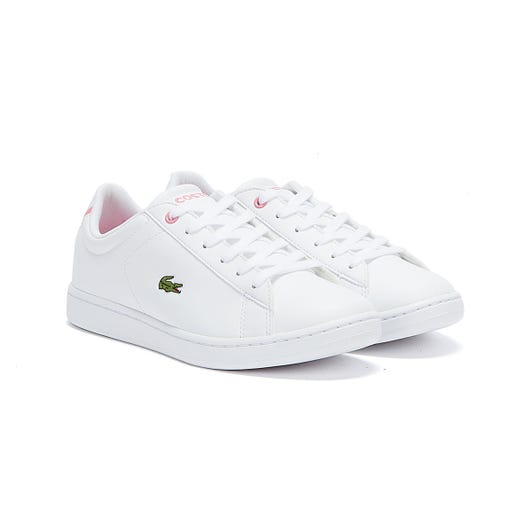 Lacoste Carnaby EVO BL 2 Junior White / Pink Trainers