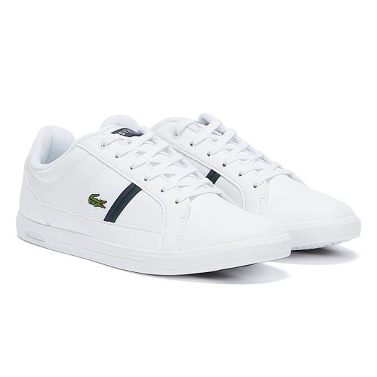 Lacoste Europa 120 1 Mens White / Green Trainers